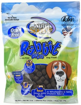 Nutrisource Grain Free Rabbit Bites Dog Treats 6oz