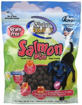 Nutrisource Grain Free Salmon Bites Dog Treats 6oz