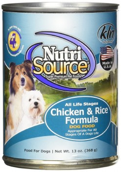 Nutrisource All Life Stages Chicken and Rice Canned Dog Food Case of 12 13oz