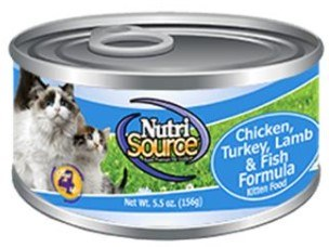 Nutrisource Grain Free Chicken, Turkey, Lamb, Fish Protein Select Canned Cat Food Case of 12 5oz