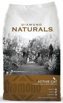 Diamond Naturals Active Chicken Meal and Rice Formula Dry Cat Food 6lb