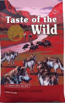 Taste of the Wild Southwest Canyon Grain Free Dry Dog Food 28lb