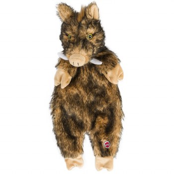 Furzz Boar Plush 13.5 In Brown