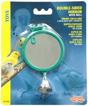 Double Sidded Mirror With Bell