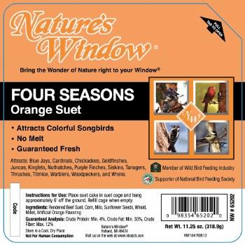 Four Season Orange Suet 11.25oz