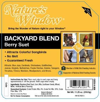 BackYard Blend Berry Suet 11.25oz