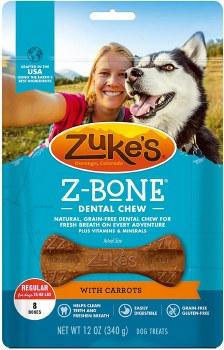 Zuke's Z-Bone with Carrots Regular 8 Count  Dental Dog Treats