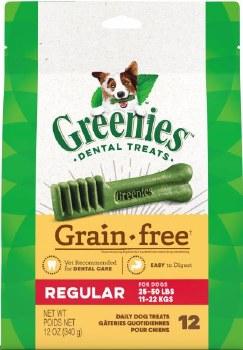 Greenies Grain Free Regular Dog 25-50lbs 12oz 12 Count