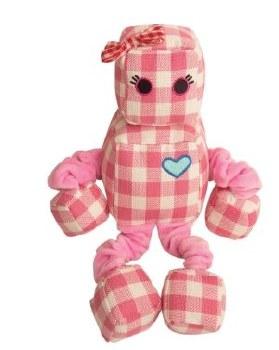 Snugz Rosie The Robot Plush Dog Toy