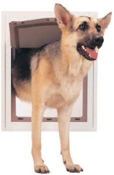 PetSafe Freedom Aluminum Pet Door for Dogs and Cats White Tinted Vinyl Flap Extra Large120-220lb