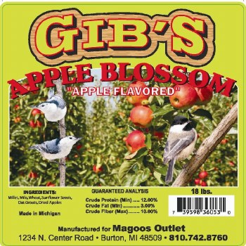 Gibs Apple Blossom Wild Bird Seed 16lb