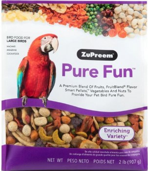 ZuPreem Pure Fun Enriching Variety Large Bird Food 2lb bag