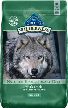 Blue Buffalo Wilderness Duck Recipe Grain Free Dry Dog Food 24lb