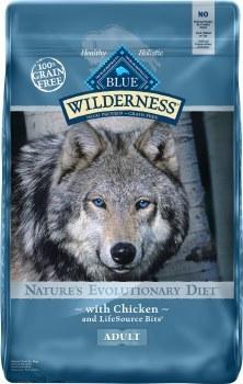 Blue Buffalo Wilderness Chicken Recipe Grain Free Dry Dog Food 24lb