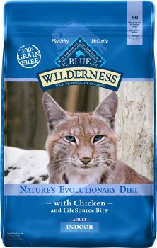 Blue Buffalo Wilderness Indoor Health High Protein Grain Free Natural Adult Dry Cat Food 11lb