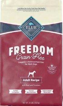 Blue Buffalo Freedom Adult Beef Recipe Grain Free Dry Dog Food 24lb