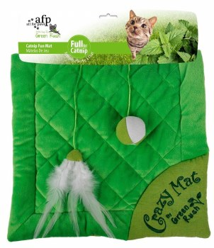 All For Paws Green Rush Crazy Cat Mat Cat Toy