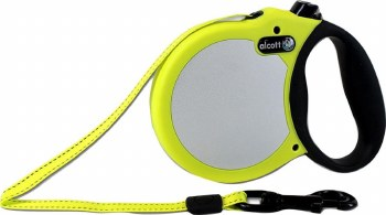 Alcott Adventure Retractable Leash Extra Small Safety Yellow Upto 25lbs