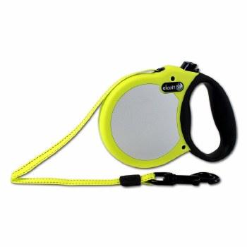 Alcott Adventure Retractable Leash Large Safety Yellow Upto 110lb