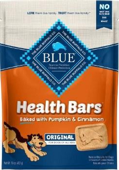 Blue Buffalo Health Bars Baked with Pumpkin and Cinnamon Dog Treats 16oz