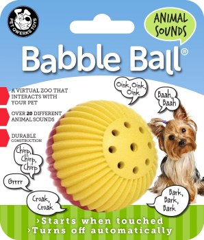 Babble Ball Anml Sound Sm Rd/Y