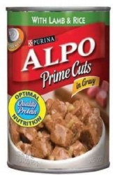 ALPO Prime Cuts with Lamb and Rice in Gravy Canned Dog Food Case of 12 13.2oz