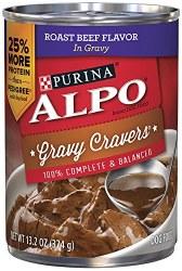 ALPO Gravy Cravers Roast Beef Flavor in Gravy Canned Dog Food Case of 12 13.2oz