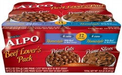 ALPO Homestyle Beef Lover's Pack Canned Dog Food Case of 12 13.2oz