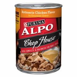 ALPO Chop House Rotisserie Chicken Flavor in Gourmet Gravy Canned Dog Food 13oz