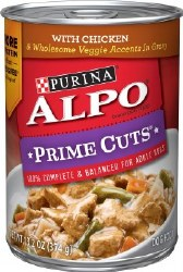 ALPO Prime Cuts with Chicken & Wholesome Veggie Accents in Gravy Canned Dog Food Case of 12 13.2oz