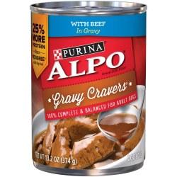 ALPO Gravy Cravers With Beef In Gravy Adult Wet Dog Food Case of 12 13.2oz