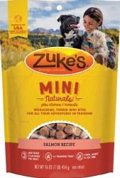 Zuke's Mini Naturals Salmon Recipe Dog Treats 1lb