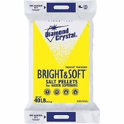 Diamond Crystal Bright & Soft Salt Pellets, 40 lb. Bag