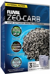 Fluval Zeo-Carb 3x 150g.