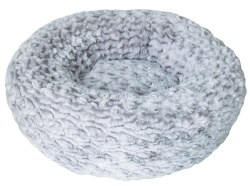 DogIt Rosebud Donut Style Grey Dog Bed Extra Small