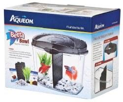 Aqueon Half Gallon Betta Bowl Kit Black