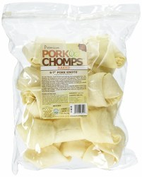 Premium Pork Chomps 6-7 Inch Knot Bone 6 Count