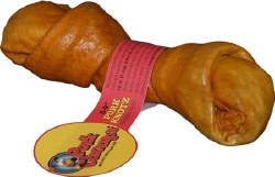 Premium Pork Chomps 8-9 Inch Roasted Pork Skin Knot Bone
