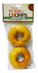 Premium Pork Chomps Roasted 3 Inch Donuts 2 Pack