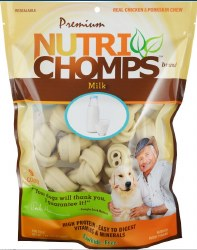 "NutriChomps Milk 4"" Knot 9ct"