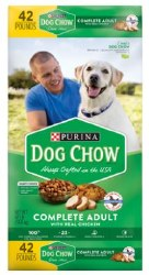 Purina Dog Chow Complete Adult With Real Chicken Dry Dog Food 42lb