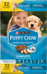 Purina Puppy Chow Complete with Real Chicken Dry Dog Food 32lb