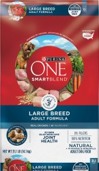 Purina ONE SmartBlend Large Breed Adult Formula Adult Premium Dry Dog Food 31.1lb