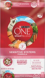 Purina ONE SmartBlend Sensitive Systems Formula Adult Premium Dry Dog Food 31.1lb