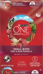 Purina ONE SmartBlend Small Bites Beef and Rice Dry Dog Food 31.1lb