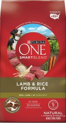 Purina ONE SmartBlend Lamb & Rice Formula Adult Premium Dry Dog Food 31.1lb