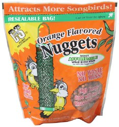 Orange Flavored Suet Nuggets 27oz No Mess For Wild Birds