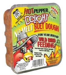 Hot Pepper Suet Delight No Melt Suet Dough 11.7oz For Wild Birds