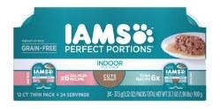 Iams Perfect Portions Cat Cuts W/Salmon & Tuna 12ct Variety