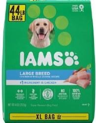 Iams Large Breed Xtra Large 44llb Bag